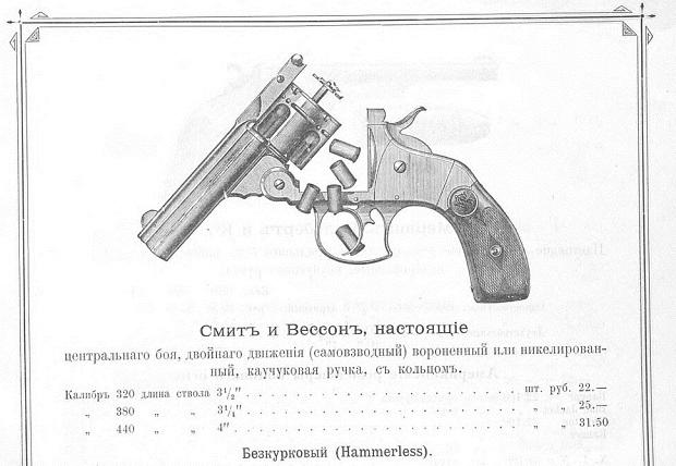 Прейскурант на огнестрельное и холодное оружие