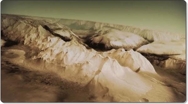 Вид Марса со спутника Mars Express