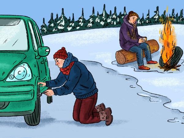 Что делать если зимой автомобиль заглох на трассе, а помощи нет