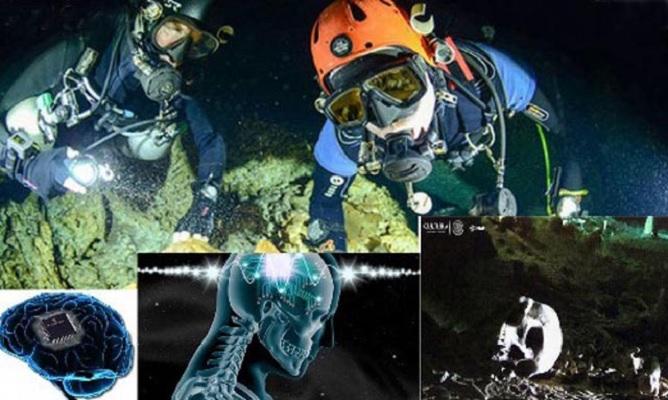 12000-летний череп с микросхемой обнаружили под водой в Мексике