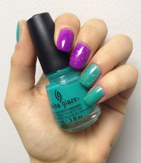 China Glaze Are you Jelly и Keep'in it teal