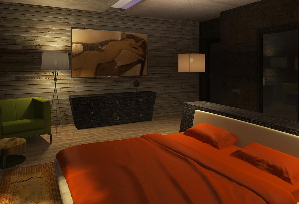 спальня темная ночь 1 м