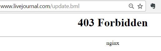 LJ error 403