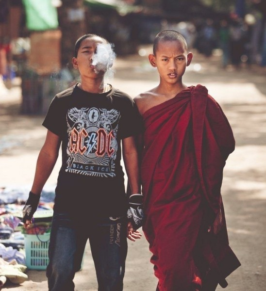 a monk and a punk