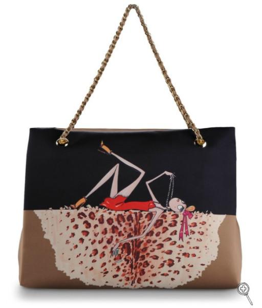 Love Moschino Charming Bag (Black & Beige) -1