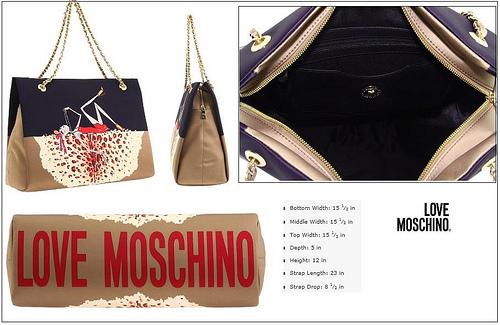 Love Moschino Charming Bag (Black & Beige) -2