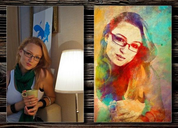 Стилизованные портреты на холсте как сделать