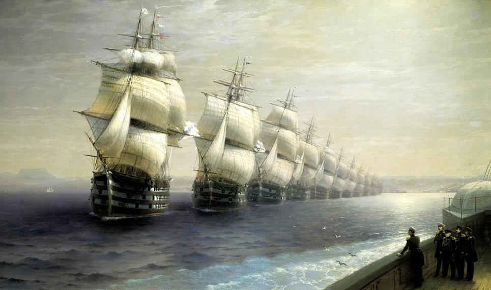Смотр_Черноморского_флота_в_1849_году