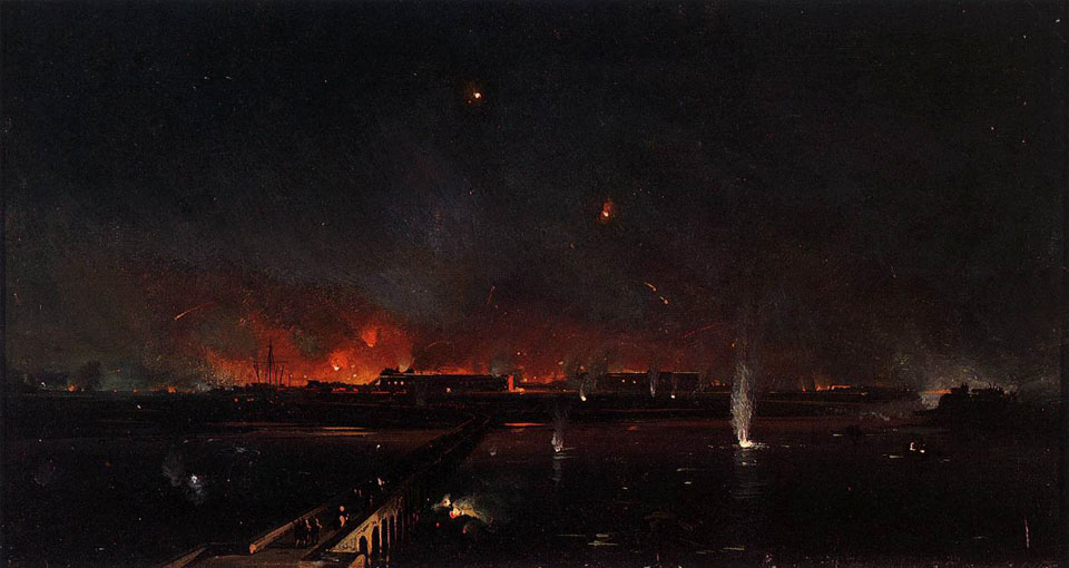 Ippolito_Caffi_-_Bombardment_of_Marghera_on_the_Night_of_May_24,_1849_-_WGA03741