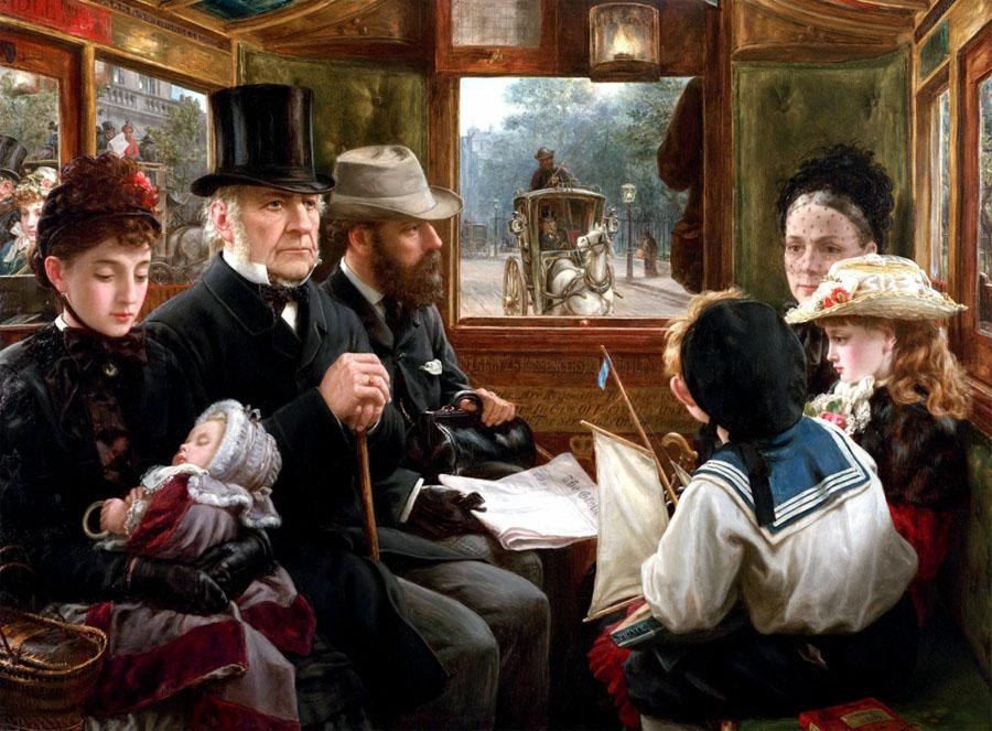 Alfred George MORGAN - Омнибус на пути к Пикадилли, 1885