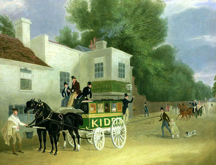 James Pollard Kidds Omnibus to Turnham Green at the Angel Inn