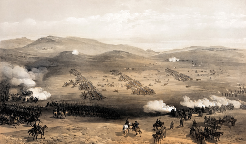 William_Simpson_-_Charge_of_the_light_cavalry_brigade,_25th_Oct._1854,_under_Major_General_the_Earl_of_Cardigan