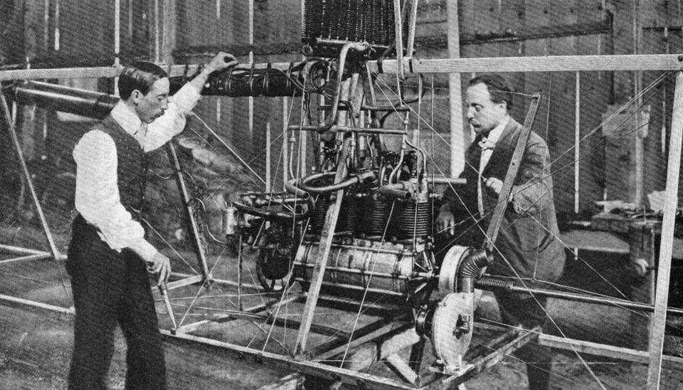 Motor of the Santos Dumont VI