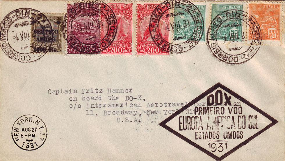 Dornier_DO-X_Rio_-_New_York_First_Flight_Cover_1931