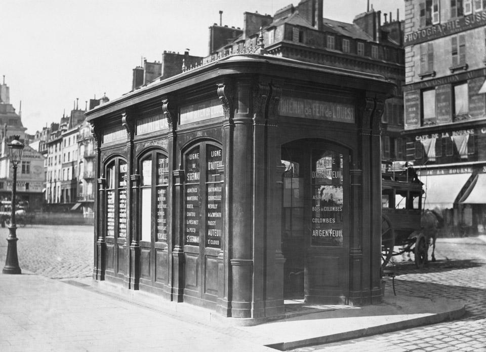 Charles_Marville,_Bureau_d'Omnibus_de_la_Cie._Generale._Place_de_la_Bourse,_ca._1865