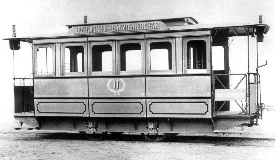 1891 г. Пароконный вагон КГЖД с кузовом закрытого типа Коломенского завода
