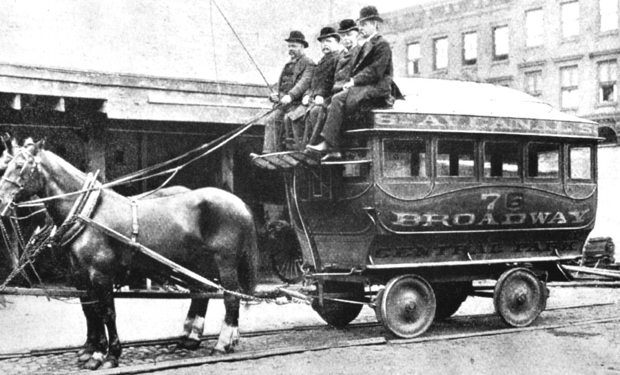 Horse RR NYC 8th Ave - canal 1850
