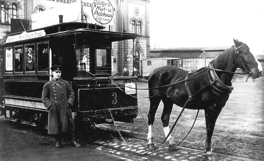 Pferdebahn wird 120 Jahre alt