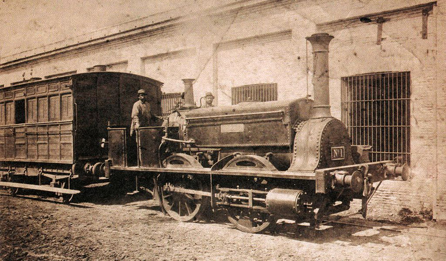 La_Portena-locomotiv-argentina-1857
