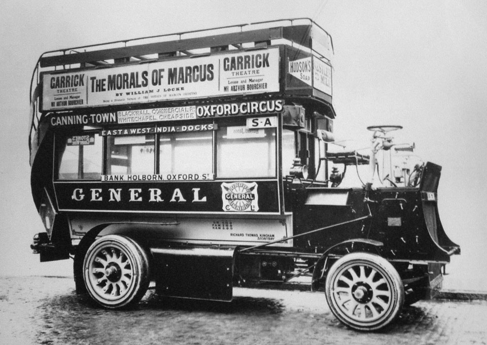 1907 Clarkson Paraffin-fired Steam Bus