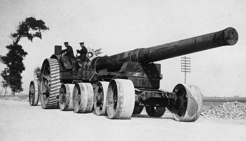 NLS_Haig_-_Big_British_gun_going_to_its_position
