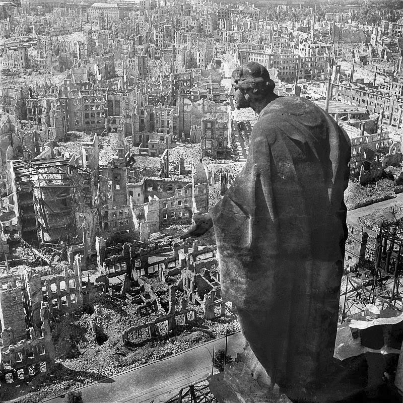 The ruins of Dresden, 1945