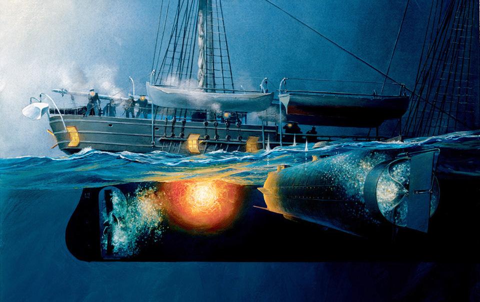 hl-hunley-civil-war-ship-sinks-housatonic