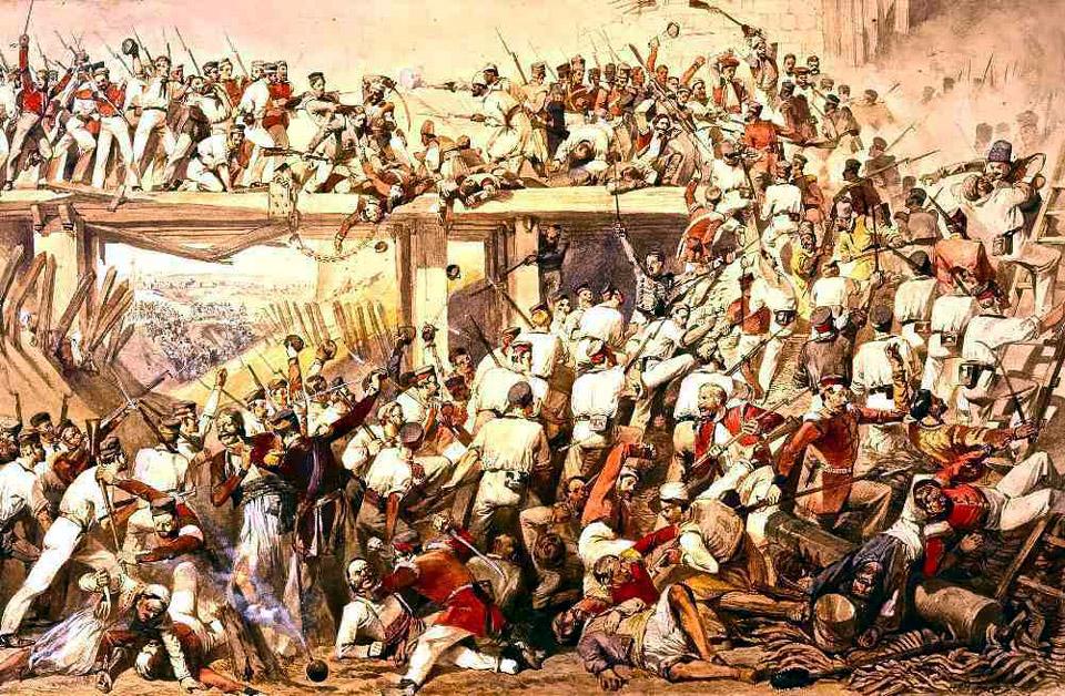 Storming Cashmir Gate Sept 14th, 1857