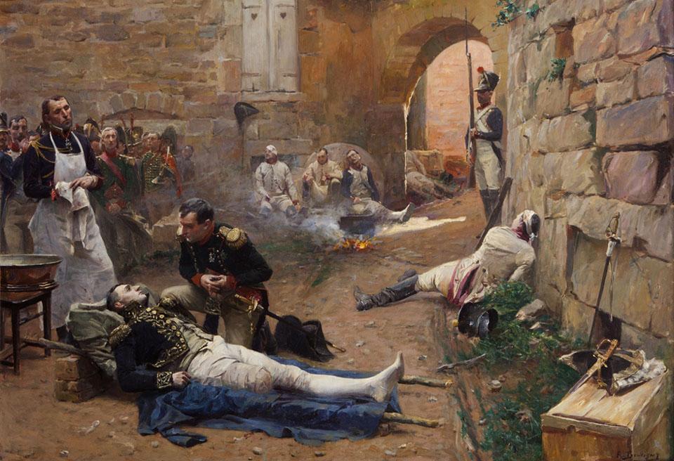 Napoleon-Rendant-Visite-aux-Blesses-c.-1890-Paul-Emile-Boutigny