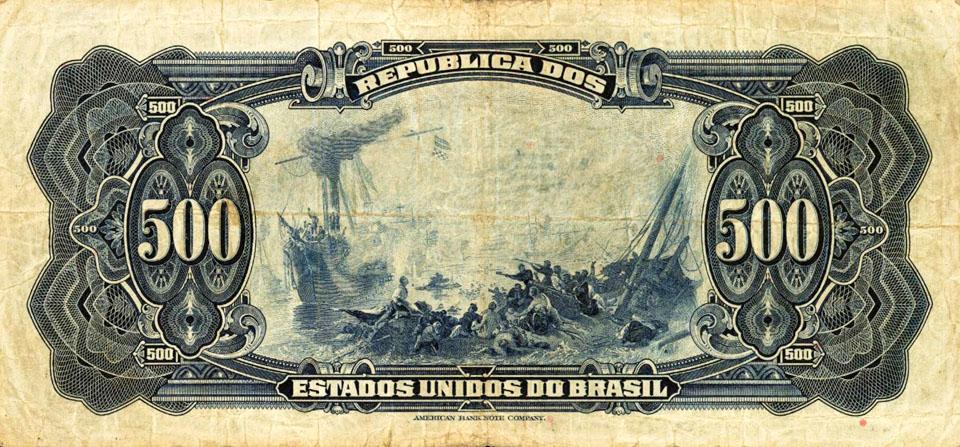 Brazil 500 Mil Reis note 1926