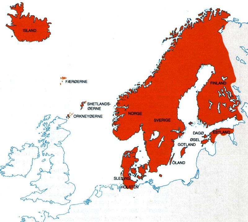 Dkkort3 Kalmarunionen ca 1400