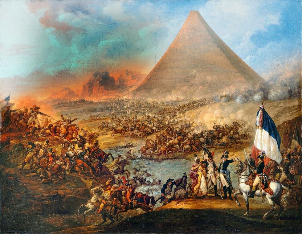 batalla_ante_las_piramides_ OLEO DE Louis-Joseph Francois