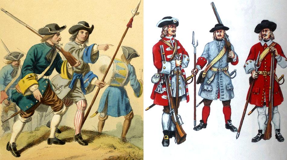 Bavarian infantry 1683