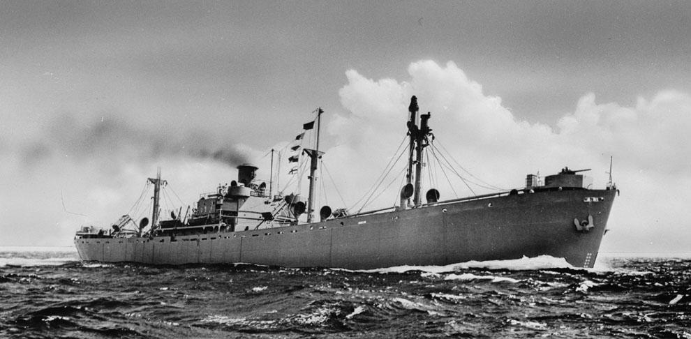 Liberty_ship_at_sea