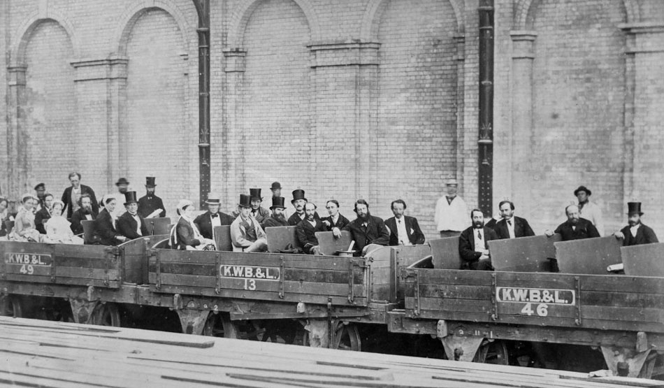 UK London Underground trial train Feb 1860. Nat Portrait Gallery-710204