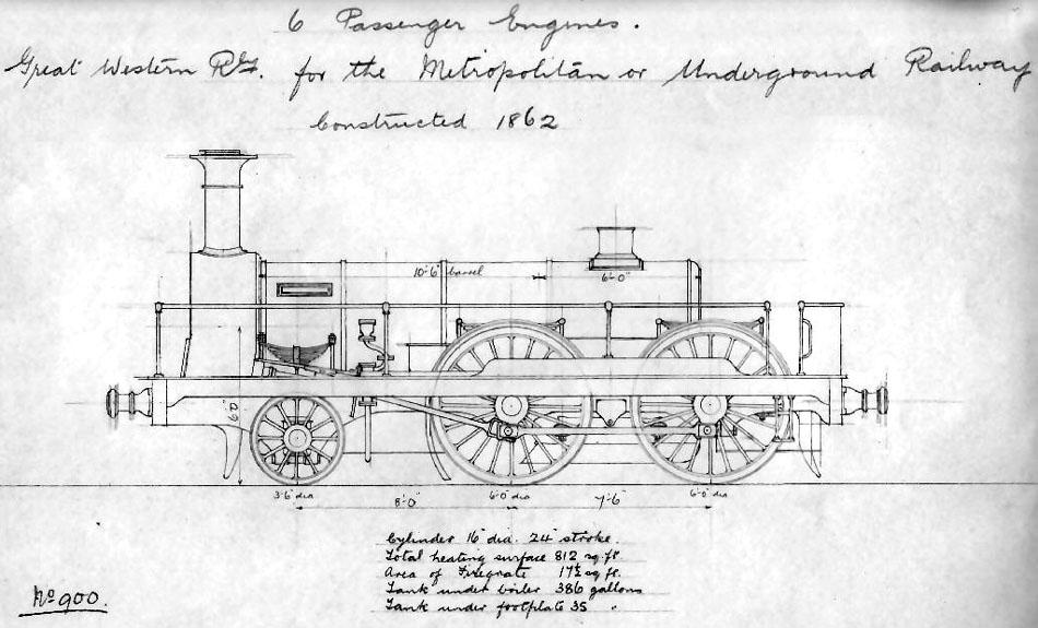 no 484-489 czar-Metropolitan Underground Railway (GWR) 1862