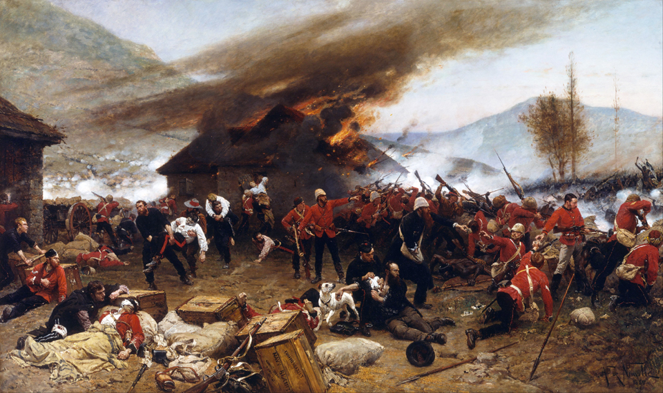 Alphonse_de_Neuville_-_The_defence_of_Rorke's_Drift_1879_-_Google_Art_Project