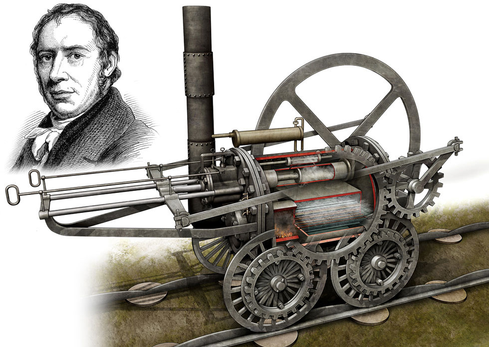 trevithick__s_1804_locomotive_by_vonbrrr-d3y3ydp