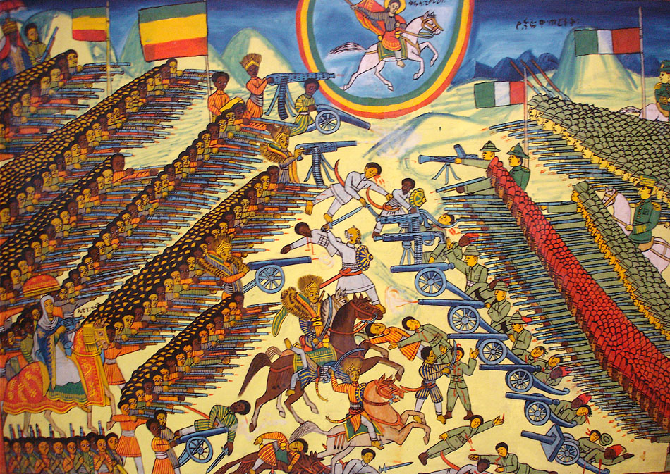 120 лет назад, 1 марта 1896 года состоялся крупнейший за всю историю колониальных войн разгром европейцев африканскими аборигенами. Вторгшаяся в Эфиопию из Эритреи итальянская армия генерала Ореста Баратьери численностью 17700 человек была фактически уничтожена войском негуса Менелика-II в сражении у городка Адуа.