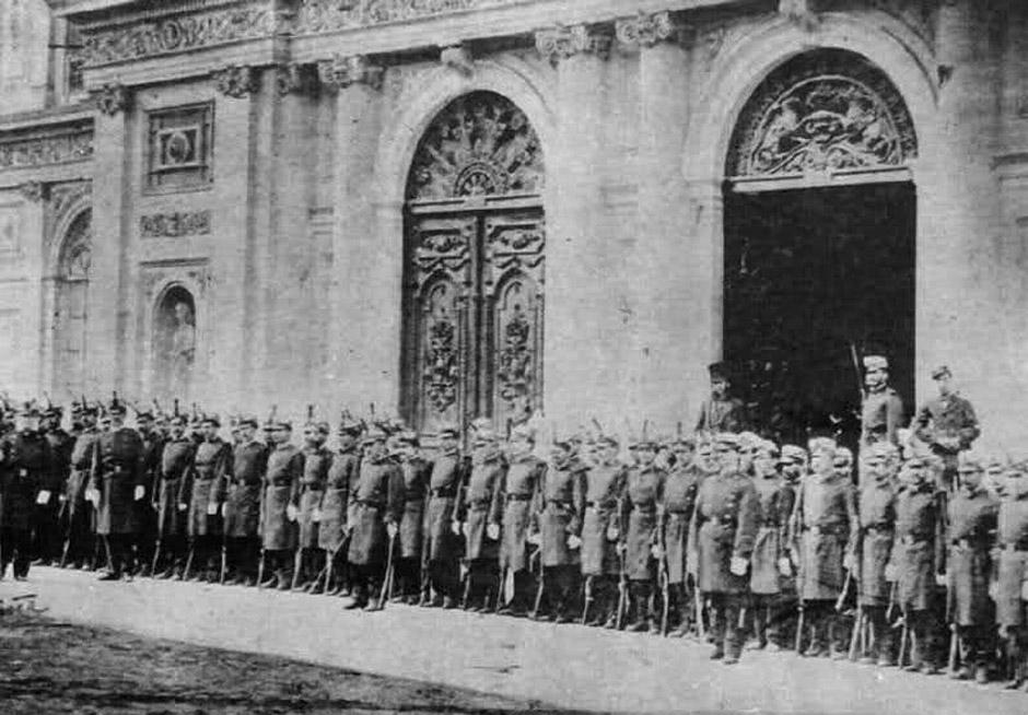 Испанская рота Городской Гвардии Лимы на параде 1879