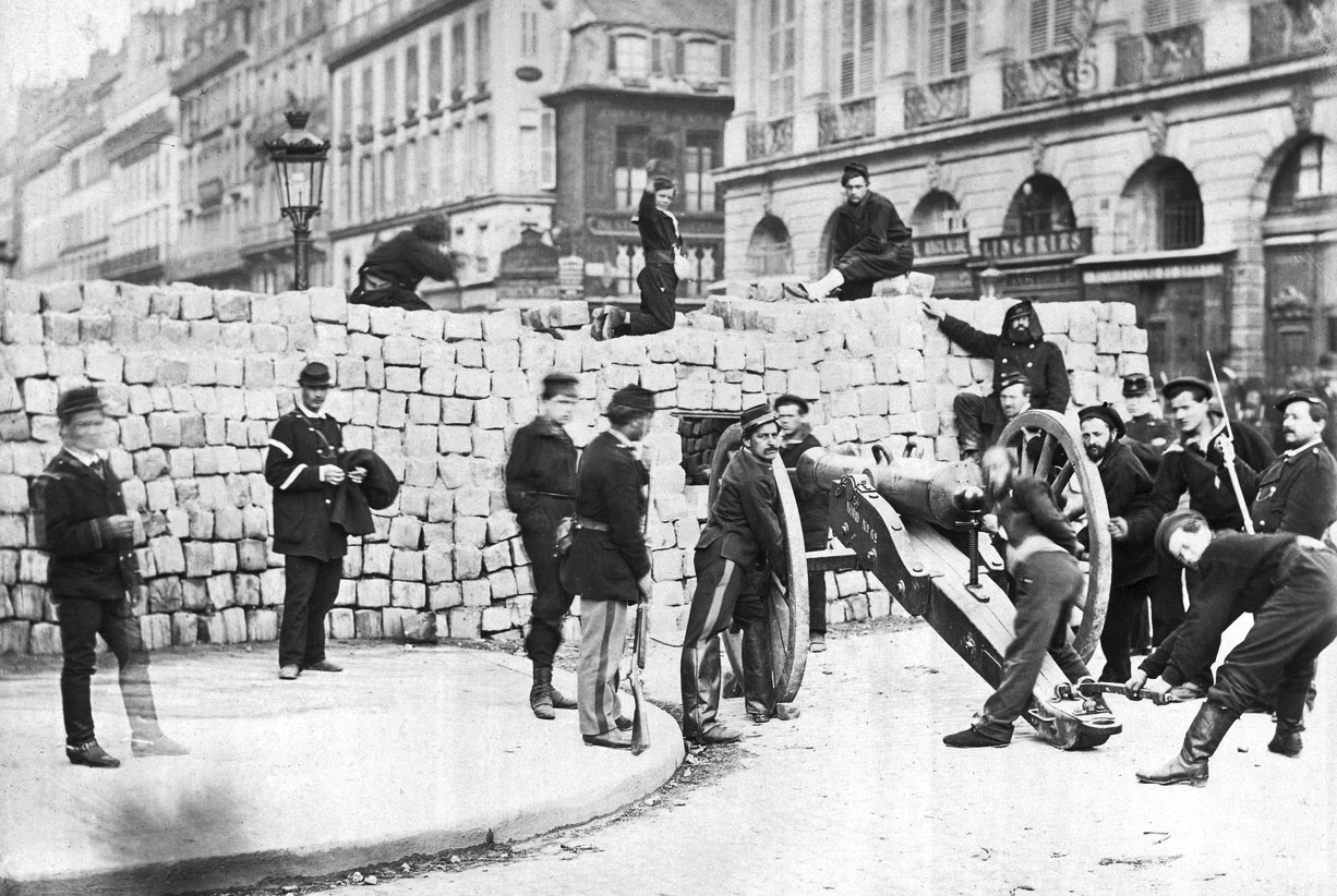the Right Side of the Barricade in the Rue de la Paix, 1870-71
