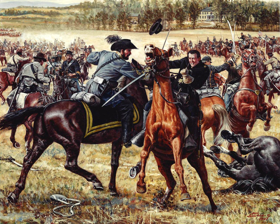 Duel on Yew Ridge, Brandy Station 1863