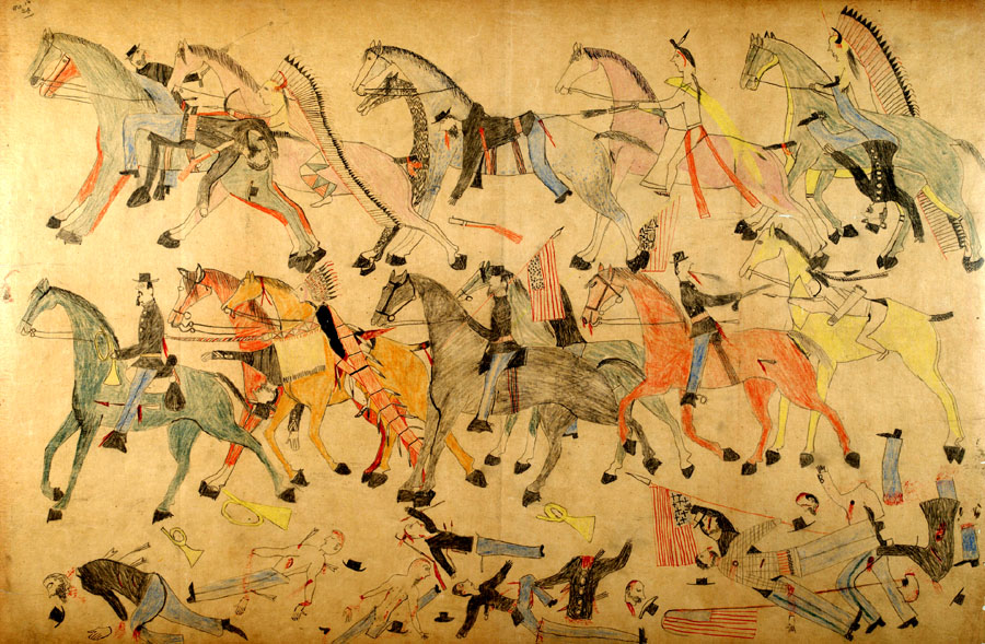 la-et-cm-battle-little-bighorn-stanford-red-horse-drawings-20151104