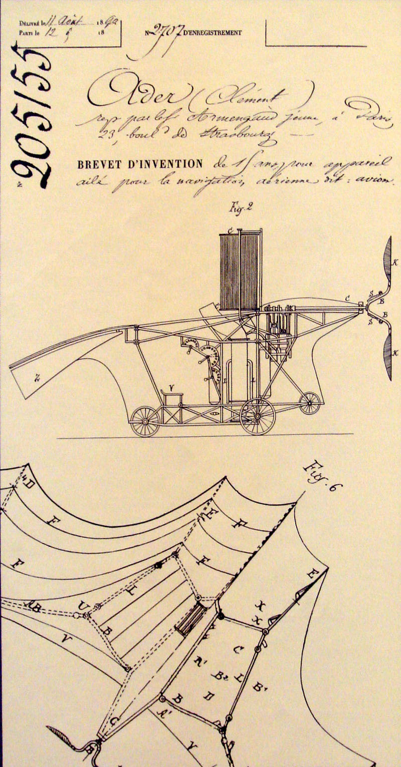 Clement_Ader_Avion_French_patent_205155_of_19_April_1890