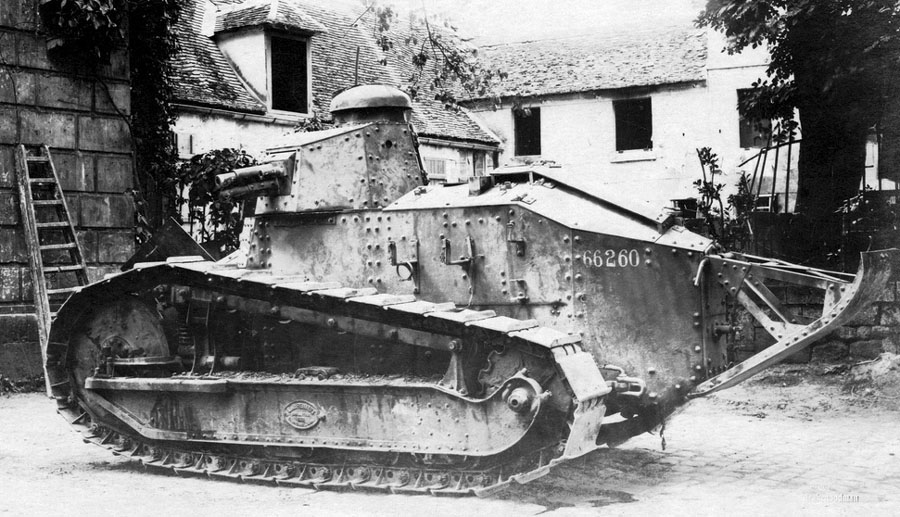 Renault FT-17 66260 captured in the fighting on 31 May