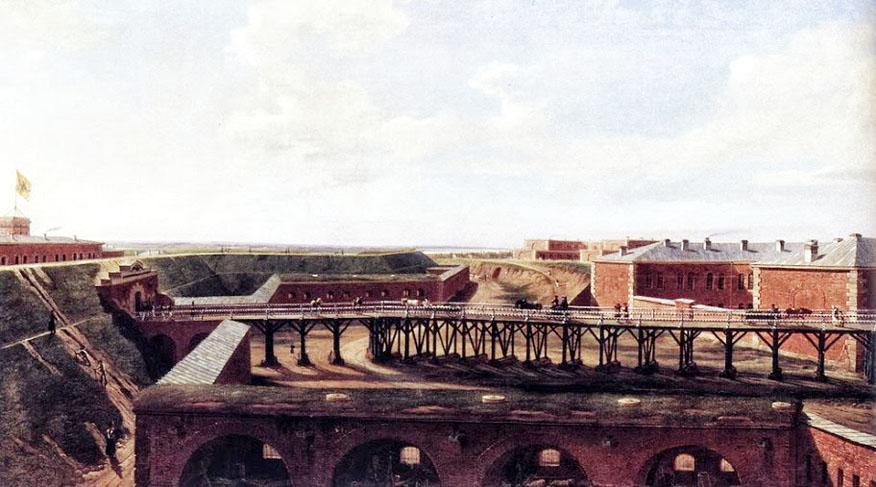 Вид внутренности Новогеоргиевской крепости