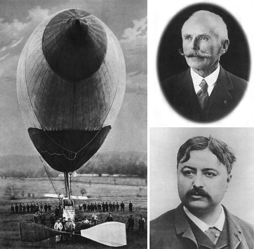 Renard and  Krebs dirigible 1884