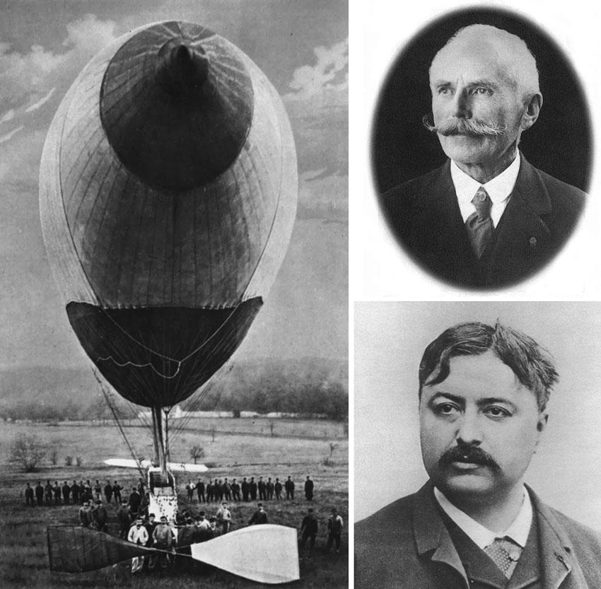 Renard and  Krebs dirigible 1884