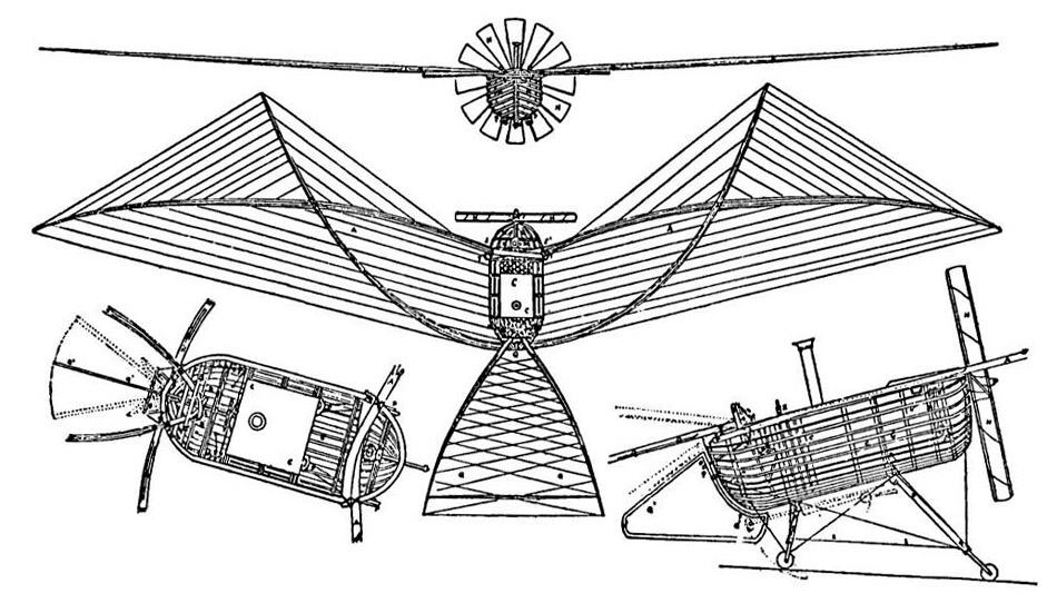 1857 Du Temple Airplane Drawing
