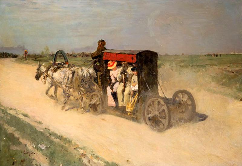 Валентин-Серов-Линейка-из-Москвы-в-Кузьминки-1892